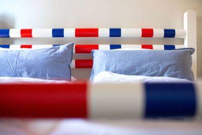 Ferienwohnung Weedenkamp Bett Detail
