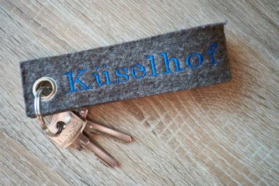 Schlüssel mit Aufdruck