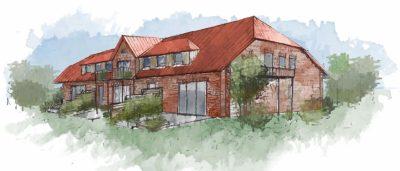 Küselhof Zeichnung Neues Bauernhaus
